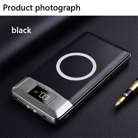 2018 Selling Quick Charge Wireless Power Bank Dual USB Power Bank 30000mAh Wireless Charger Powerbank Bateria External Portable