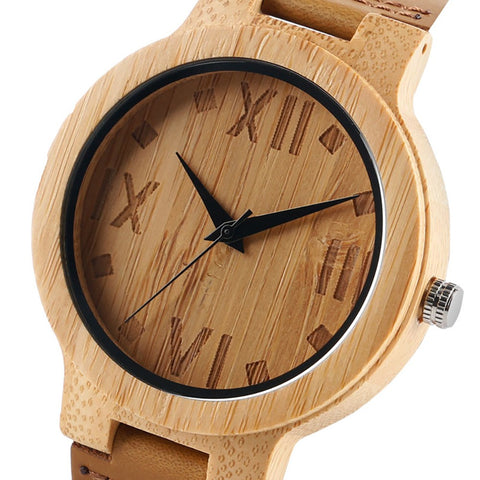 Wooden Watches Quartz Wood Watches Wristwatch Bracelet-Brown