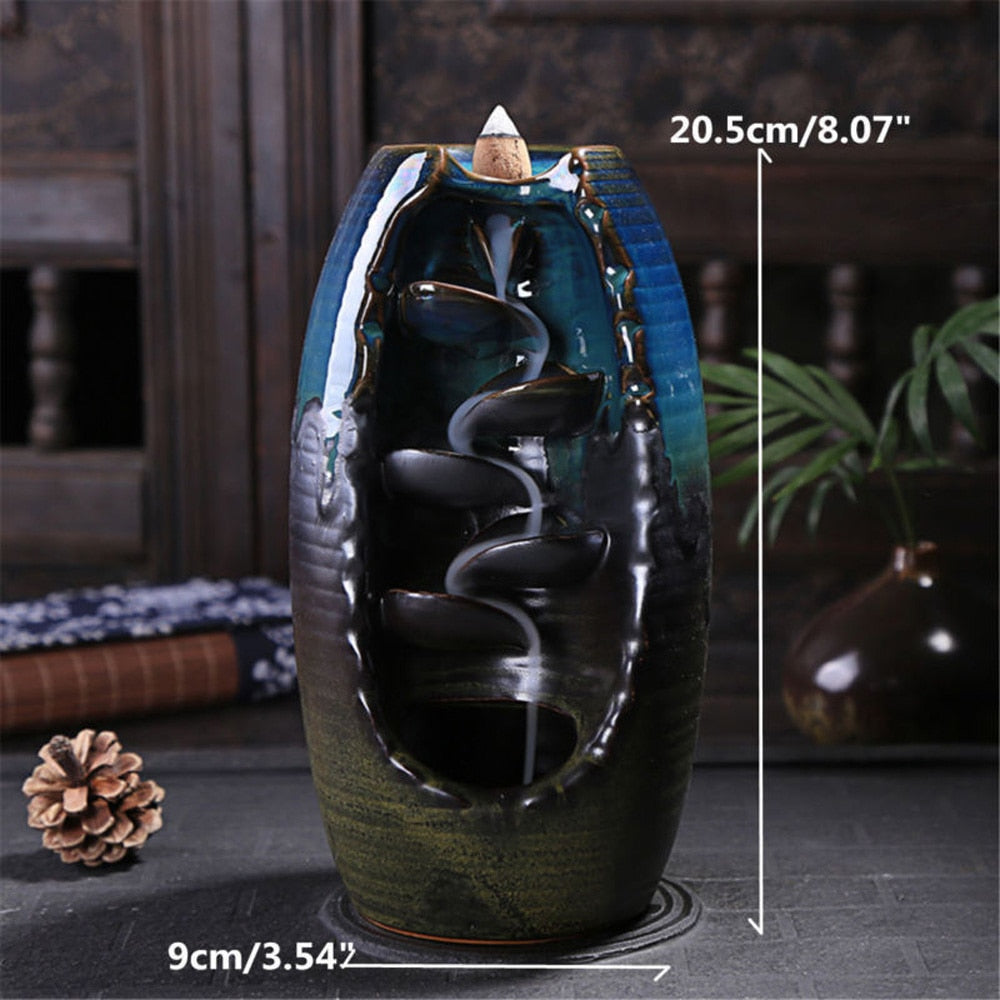 Multi Layer Backflow Ceramic Incense Burner