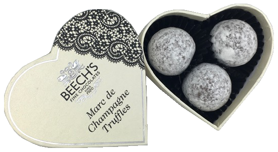 Buy Heart Shaped Truffle Box - Marc de Champagne Online