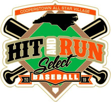 Load image into Gallery viewer, Cinch Bag with Hit & Run Cooperstown Logo