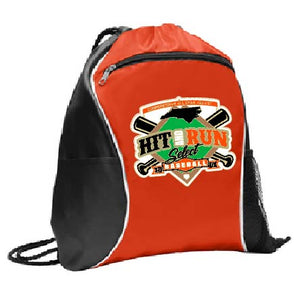 Cinch Bag with Hit & Run Cooperstown Logo