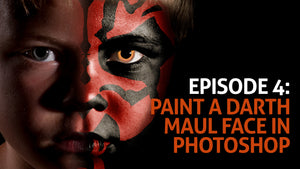 Episode 4: Painting A Darth Maul Face in Photoshop
