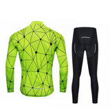 Spider Web Long Sleeve Cycling Jersey Set