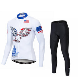 Freedom USA Long Sleeve Cycling Jersey Set