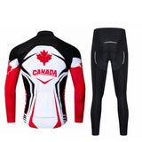 Canada Long Sleeve Cycling Jersey Set