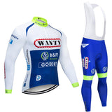 2021 Wanty Men's Team Cycling Long Sleeve Jersey Set