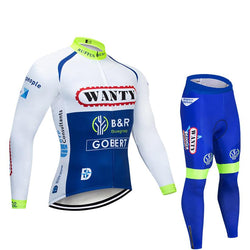 2019 Wanty Men's Team Cycling Long Sleeve Jersey Set