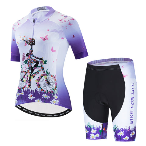 Flower Girl - Purple Cycling Kit