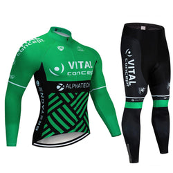 2020 VITAL Men's Team Cycling Long Sleeve Jersey Set