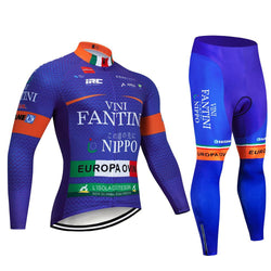 2019 VINI FANTINI Men's Team Cycling Long Sleeve Jersey Set