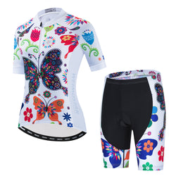 Butterfly Flowers Cycling Kit