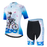 Flower Girl - Blue Cycling Kit