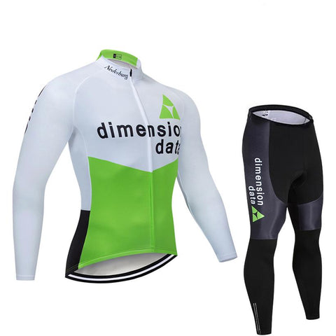 2021 Dimension Data Men's Team Cycling Long Sleeve Jersey Set
