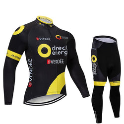 2019 Direct Energy Men's Team Cycling Long Sleeve Jersey Set