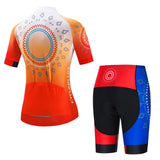 Sunny Flowers - Orange Cycling Kit