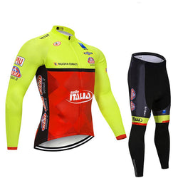 2020 Italy Men's Team Cycling Long Sleeve Jersey Set