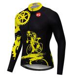 Black&Yellow Gear Long Sleeve Jersey