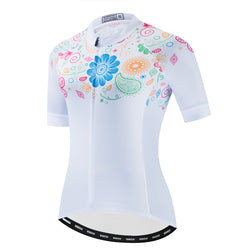 Romantic Flowers - White Jersey