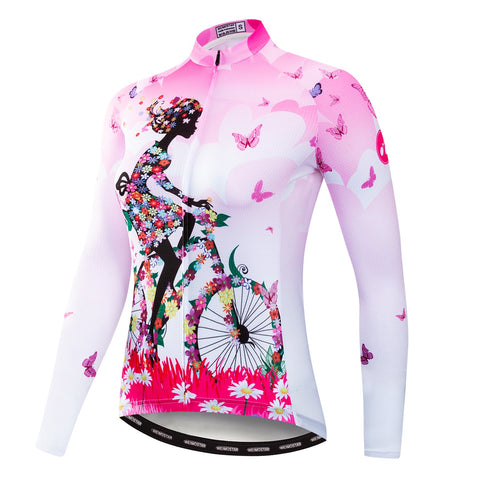 Cycling Girl Pink Jersey