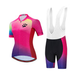 Colorful Bear Paw Cycling Kit