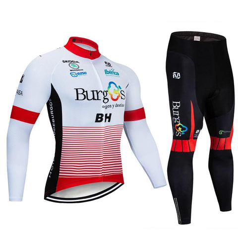 2020 Burgos BH Men's Team Cycling Long Sleeve Jersey Set