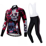 Skull Flowers Women's Long Sleeve Set