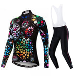 Colorful Bubble Women's Long Sleeve Cycling Jersey Set