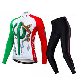 Mexico Cactus Women's Long Sleeve Cycling Jersey Set