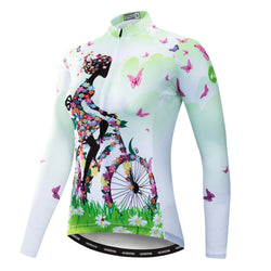 Cycling Girl Green Jersey