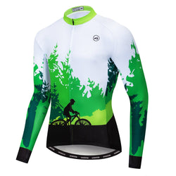 Forest Riding Green Long Sleeve Jersey