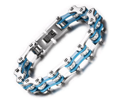 Blue Bike Chain Bracelet - S&T SPORTS STORE