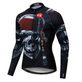 Black Skull Long Sleeve Jersey
