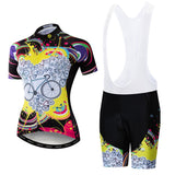Bike Love Peach Cycling Kit