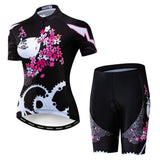 Black Sakura Cycling Kit