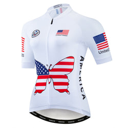 America Butterfly White Jersey