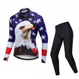USA Eagle Men's Long Sleeve Cycling Jersey Set