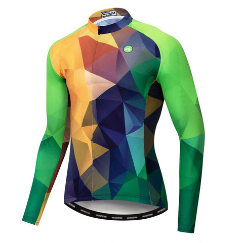 3D Green Long Sleeve Jersey