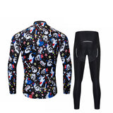 Riding Skull Long Sleeve Cycling Jersey Set