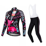 Lovely Deer Women's Long Sleeve Cycling Jersey Set