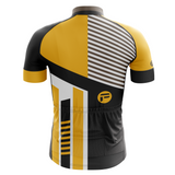 Stripe Yellow Frelsi Cycling Jersey