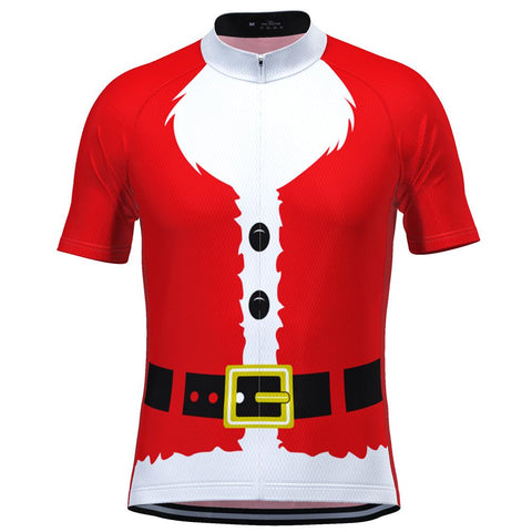 Santa Claus with Beard Red Men's Cycling Jersey