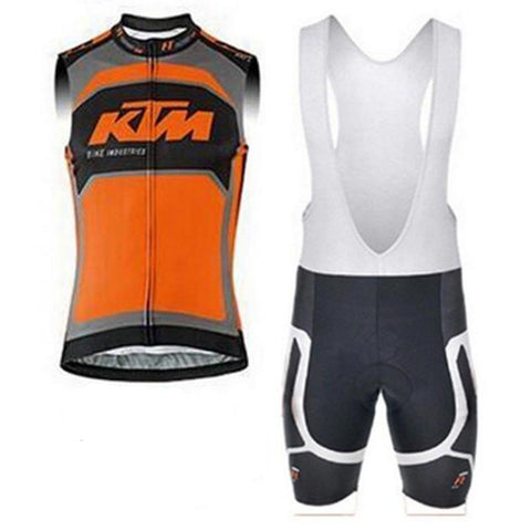 KTM Orange Cycling Sleeveless Kit