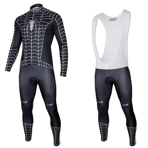 Black Spider-Man Long Sleeve Cycling Kit