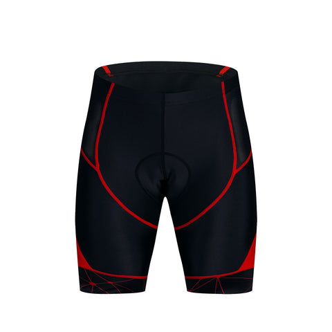 Black and Red Men's Cycling Shorts