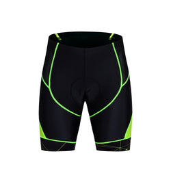 Black and Green Men's Cycling Shorts