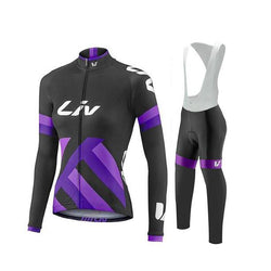 LIV Black&Blue Women's Long Sleeve Cycling Jersey Set