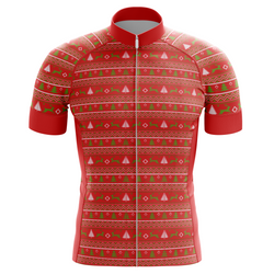 Christmas Tree and Deer Men's Cycling Jersey