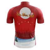 Christmas Red Men's Cycling Jersey