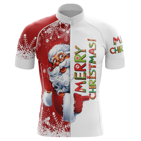 Merry Christmas Red Cycling Jersey